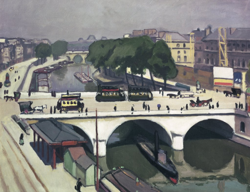 Stock Photo: 261-198 The Saint Michael Bridge in Paris by Albert Marquet, 1875-1947, Russia, St. Petersburg, Hermitage Museum