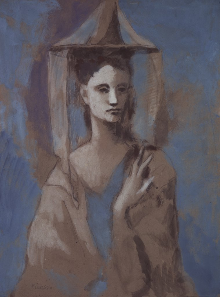 The Spanish Woman Of Mallorca by Pablo Picasso, oil on canvas, 1905, 1881-1973, Russia, St. Petersburg, Hermitage Museum : Stock Photo