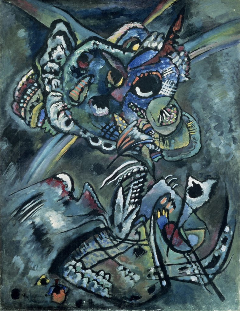 Stock Photo: 261-232 Twilight by Vasily Kandinsky, oil on canvas, 1917, 1866-1944, Russia, Moscow, Tretyakov Gallery