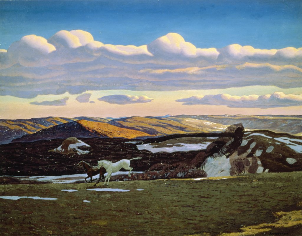 Stock Photo: 261-258 Spring Fever by Rockwell Kent,  1908,  (1882-1971),  Russia,  Moscow,  Pushkin Museum of Fine Arts