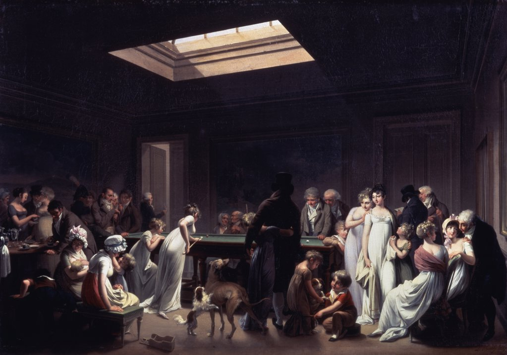Stock Photo: 261-282 A Game Of Billiards 1807 Louis Leopold Boilly (1761-1845 French) Oil On Canvas State Hermitage Museum, St. Petersburg, Russia