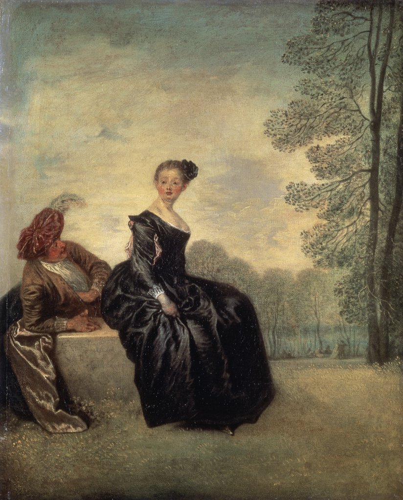 Stock Photo: 261-293 Launisches Madchen Jean-Antoine Watteau (1684-1721 French) Painting State Hermitage Museum, St. Petersburg, Russia