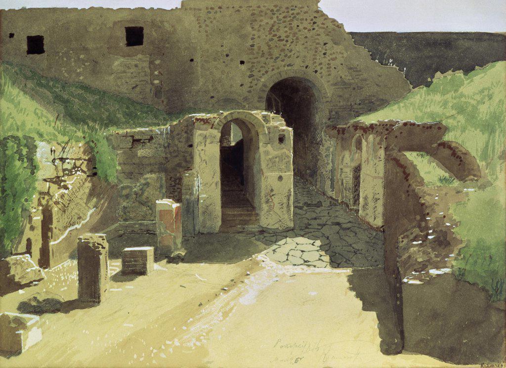 Stock Photo: 261-306 Italy 1876 Ivan Nikolaevic Kramskoj (1837-1887 Russian) Tretyakov Gallery, Moscow, Russia