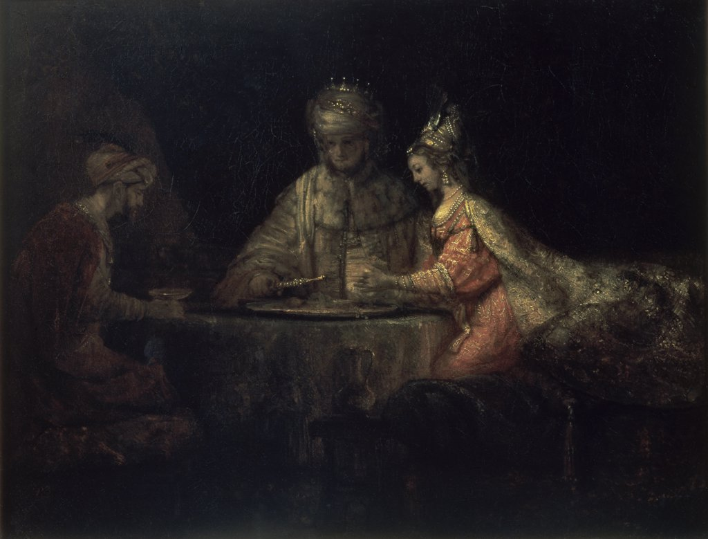 Stock Photo: 261-310 Ahasuerus, Haman and Esther 
