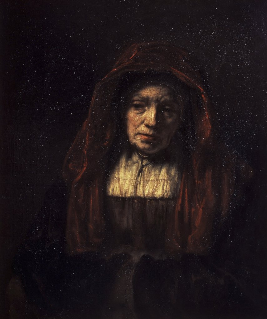 Stock Photo: 261-314 Portrait of an Old Woman