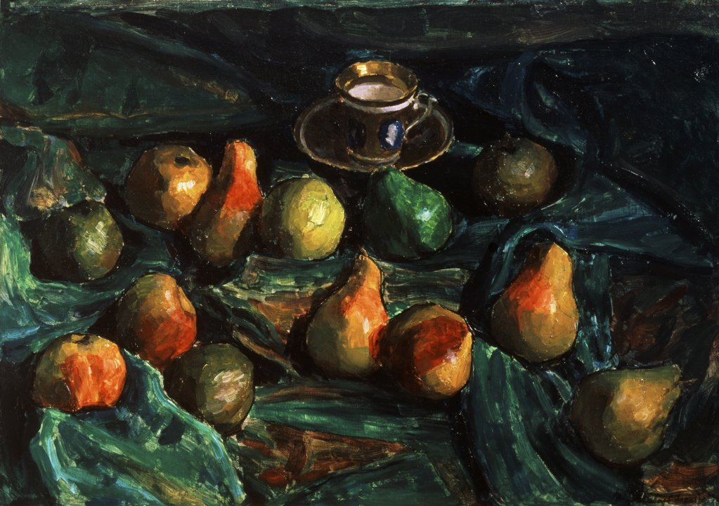 Stock Photo: 261-331 Pears by Igor Grabar, 1922, 1871-1960, Russia, Moscow, Tretyakov Gallery