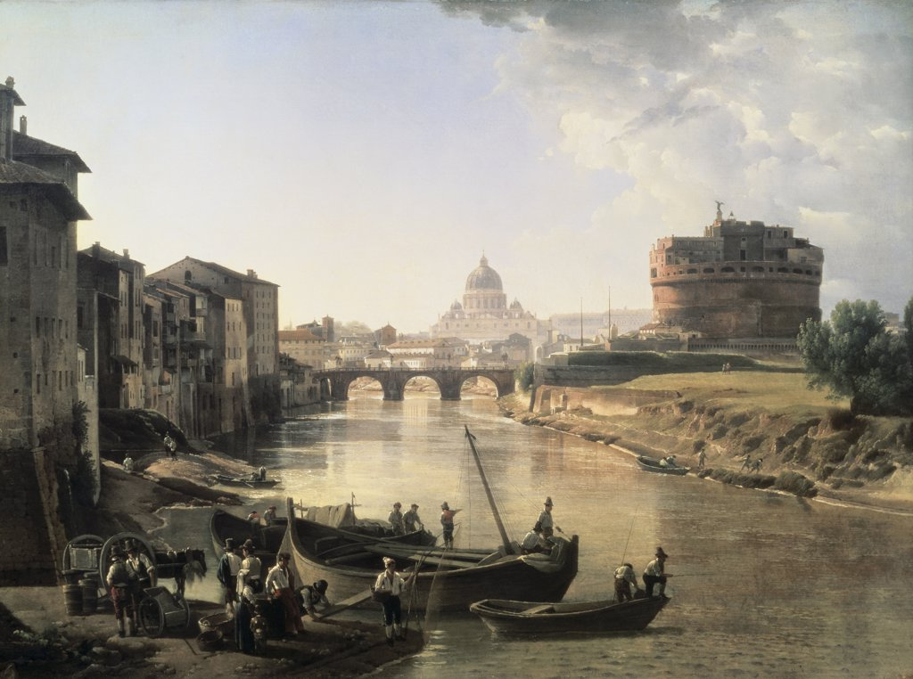 Stock Photo: 261-339 Rome, Castel San Angelo 