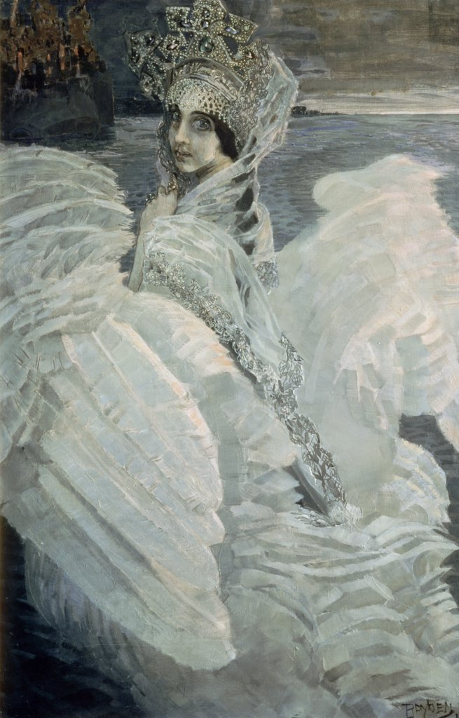 The Queen of the Swans Mikhail Vrubel (1856-1910 Russian) Tretyakov Galleyr, Moscow, Russia  : Stock Photo