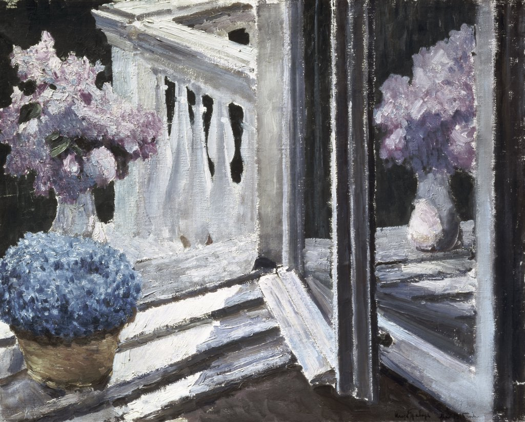 Lilac and Forget-Me-Not by Igor Grabar, 1915, 1871-1960, Russia, Moscow, Tretyakov Gallery : Stock Photo