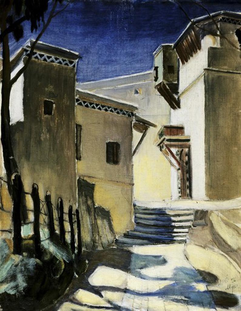 Stock Photo: 261-376 Casbah, Algeria  1907 Kuz'ma Petrov-Vodkin (1878-1939 Russian) Tretyakov Gallery, Moscow, Russia
