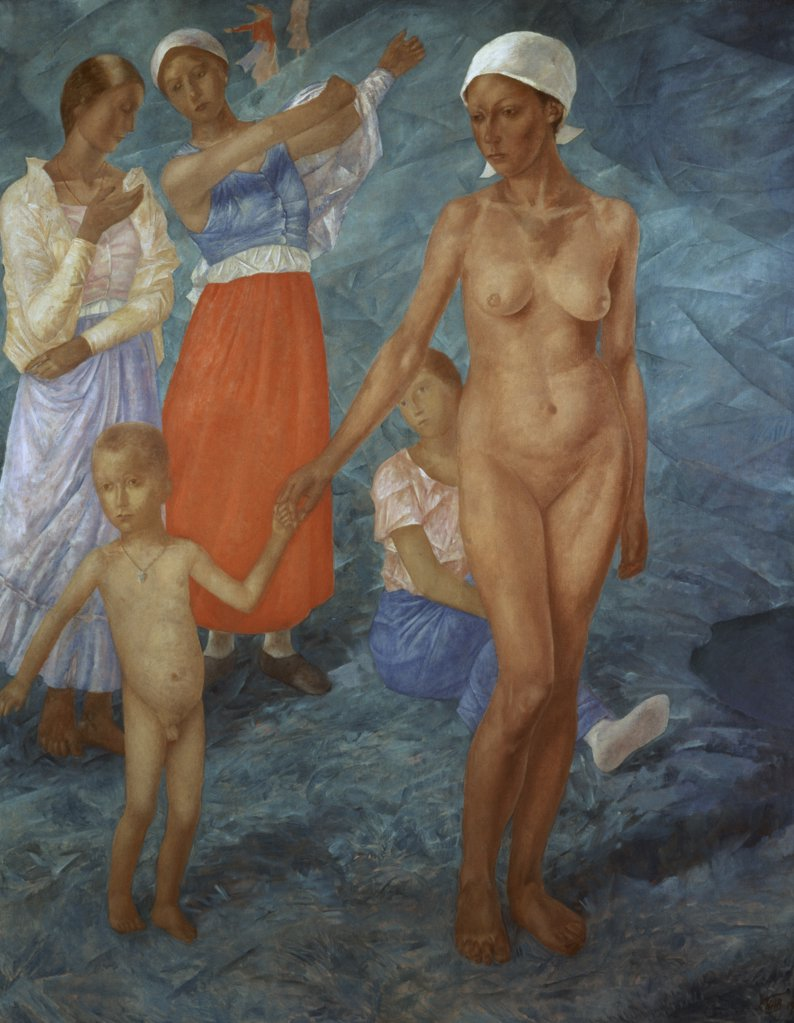 Stock Photo: 261-377 Morning 1917 Kuz'ma Petrov-Vodkin (1878-1939 Russian) State Russian Museum, St. Petersburg, Russia