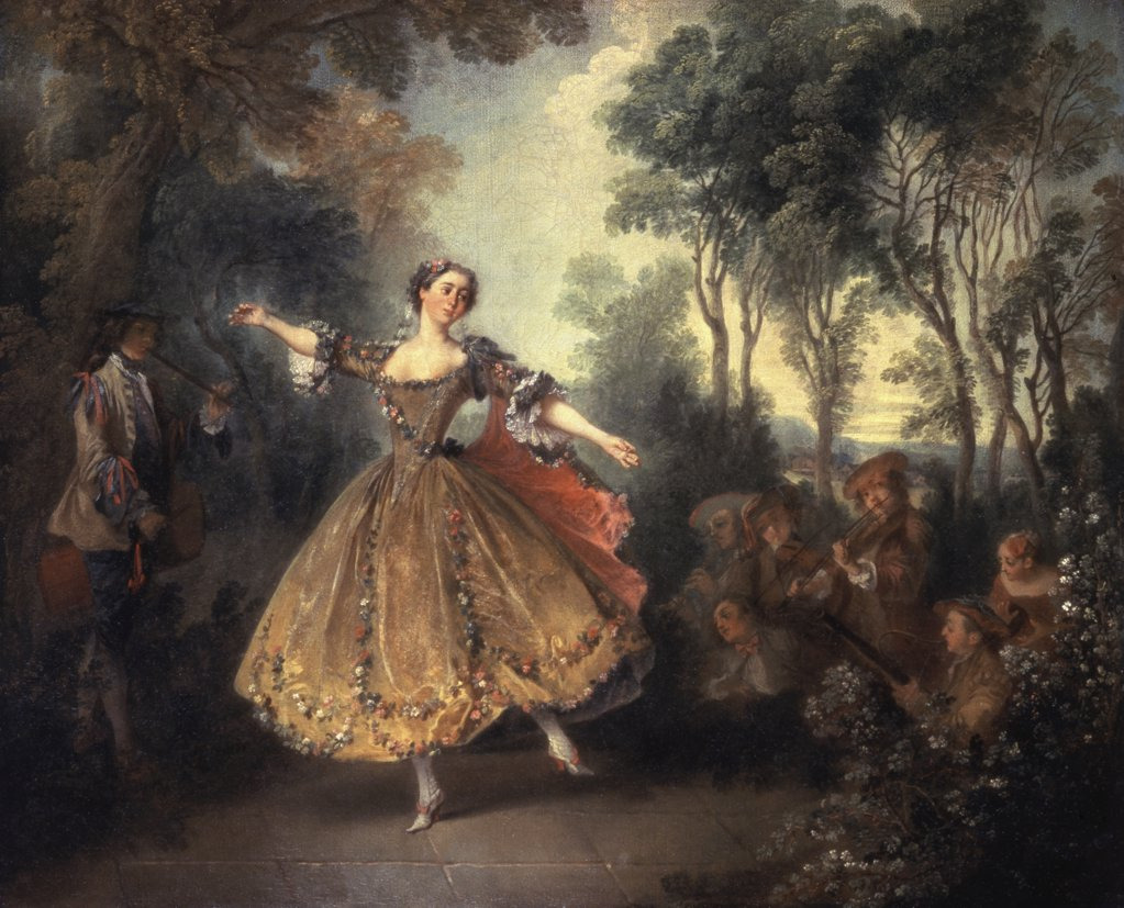 Stock Photo: 261-428 Mademoiselle Camargo Dancing