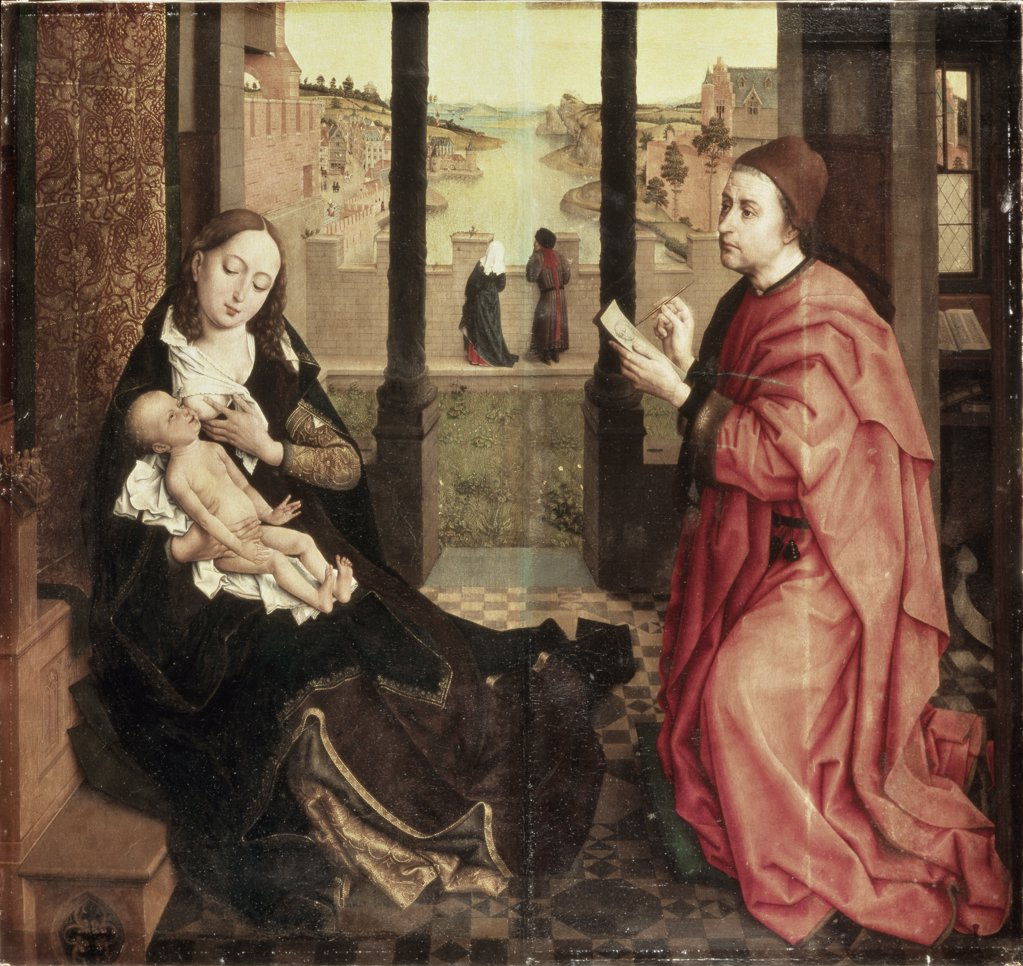 Stock Photo: 261-446 Saint Luke Drawing the Madonna 