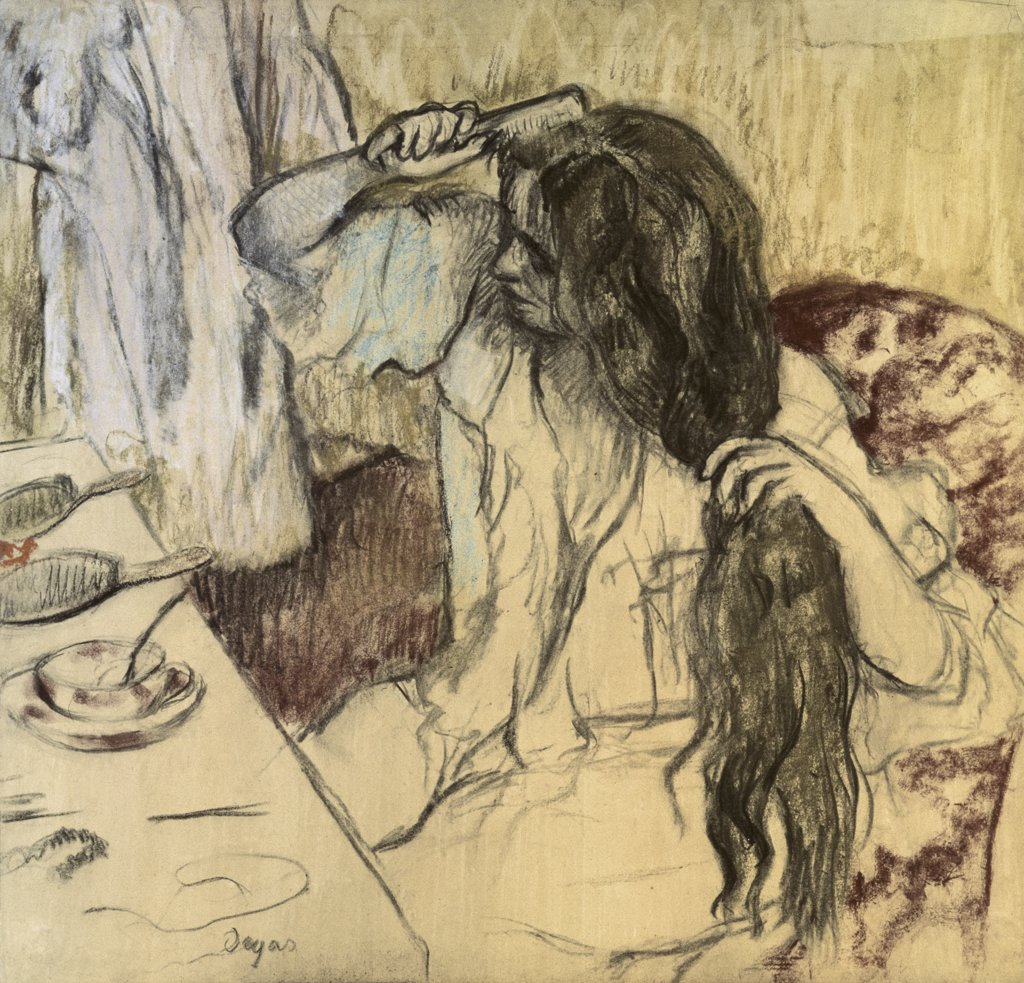 Stock Photo: 261-481 Woman at Her Toilette