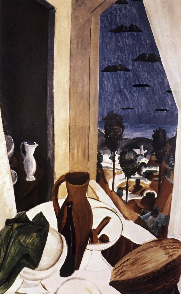 Stock Photo: 261-484 View From The Window by Andre Derain, 1880-1954, Russia, St. Petersburg, Hermitage Museum