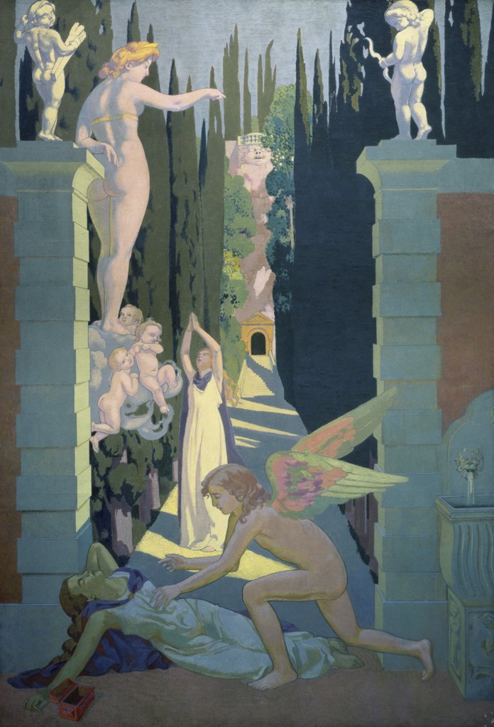 The Story of Psyche by Maurice Denis, 1870-1943, Russia, St. Petersburg, Hermitage Museum : Stock Photo