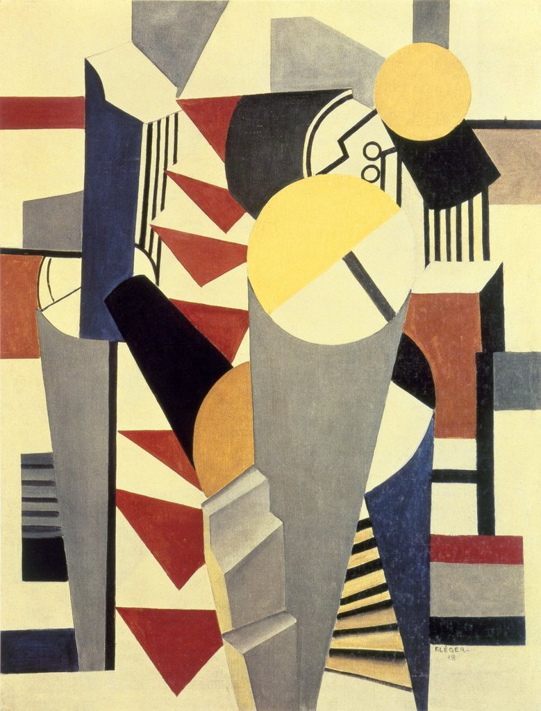 Stock Photo: 261-492 Composition by Fernand Leger, 1881-1955, Russia, St. Petersburg, Hermitage Museum