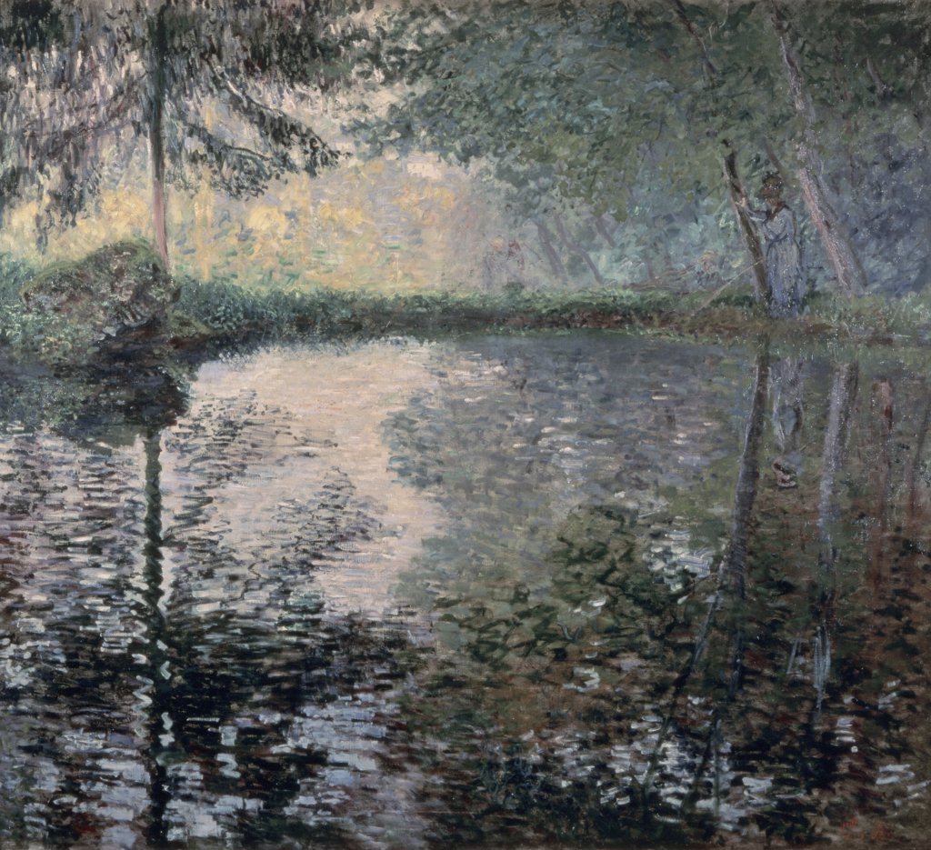 Stock Photo: 261-494 The Pond of Montgeron