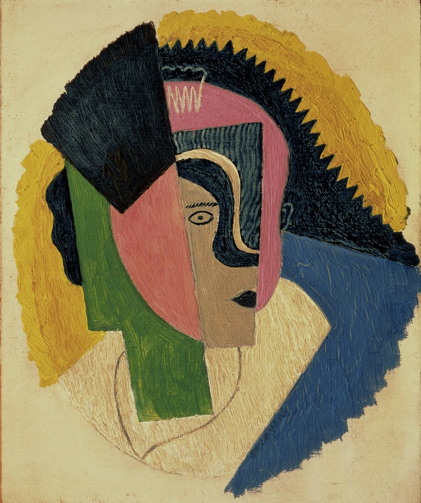 Stock Photo: 261-501 The Head by Gino Severini, 1918, 1883-1966