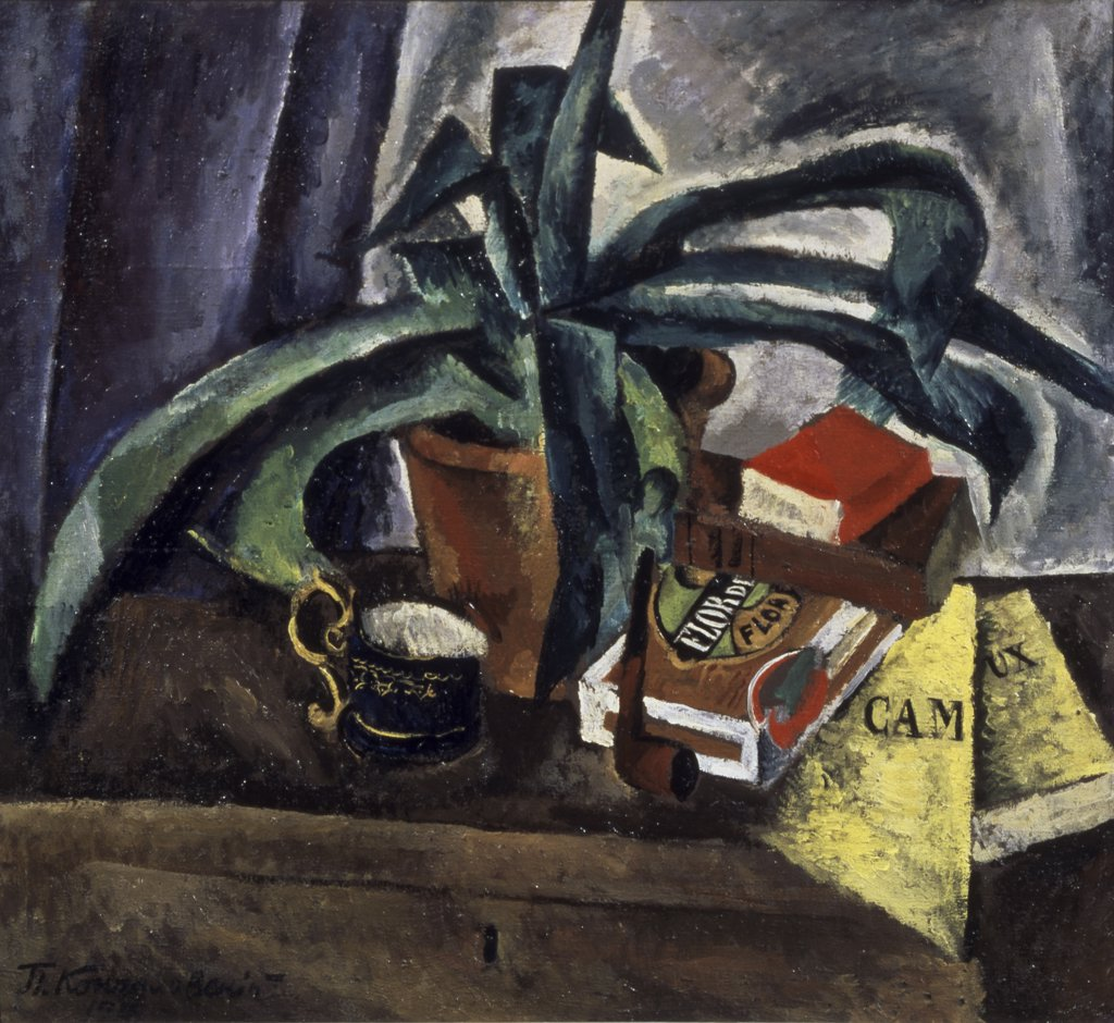 Stock Photo: 261-513 Still Life by Petr Petrovic Koncalovskij, oil on canvas, 1915, 1876-1955, Russia, Moscow, Tretyakov Gallery