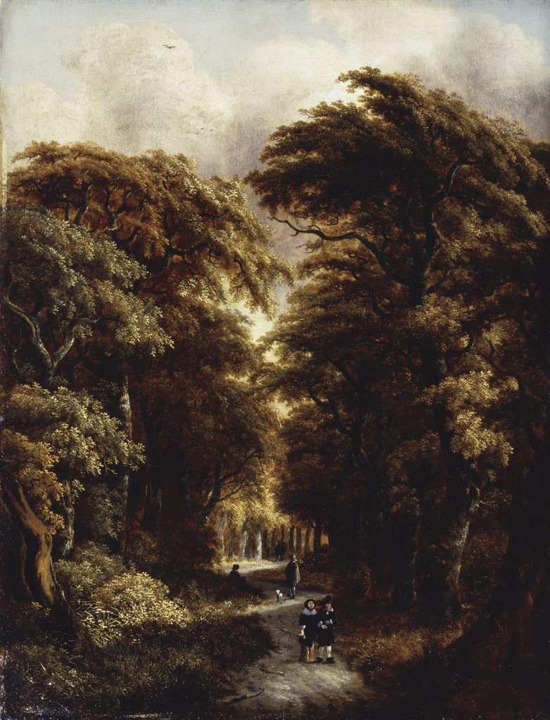 In The Forest Gillis Rombouts (1630-1678 Dutch) Oil On Canvas Pushkin Museum of Fine Arts, Moscow, Russia : Stock Photo