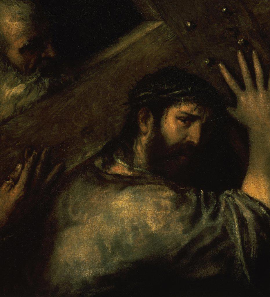 Stock Photo: 261-572 Christ Carrying the Cross  1560 Titian ( 1477/89-1576 /Venetian) Hermitage Museum, St. Petersburg