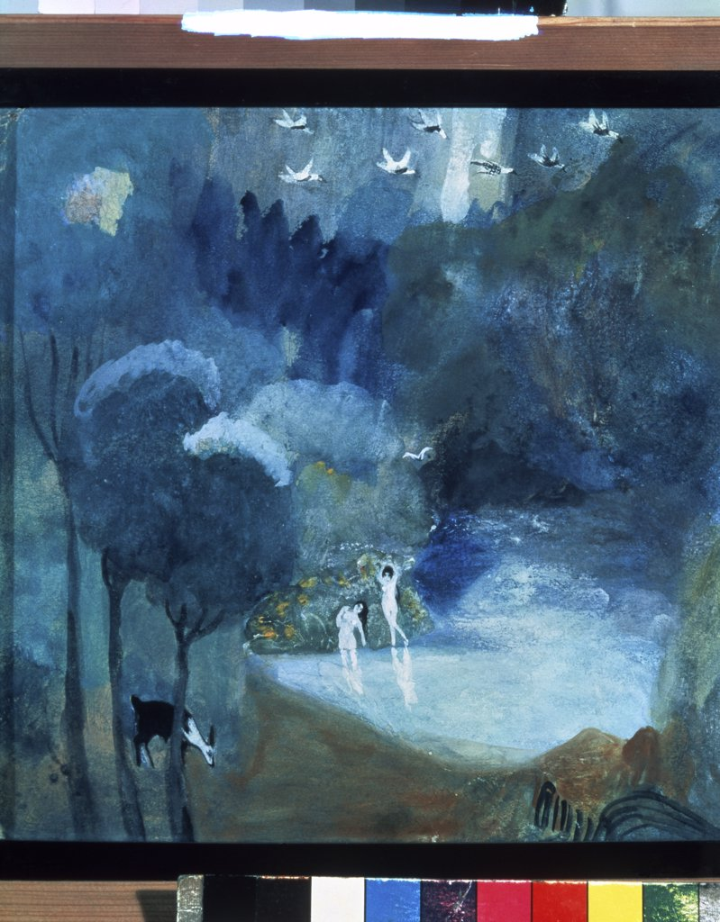 Lake of Fairies by Martiros Sarjan, 1906, 1880-1972, Private Collection : Stock Photo