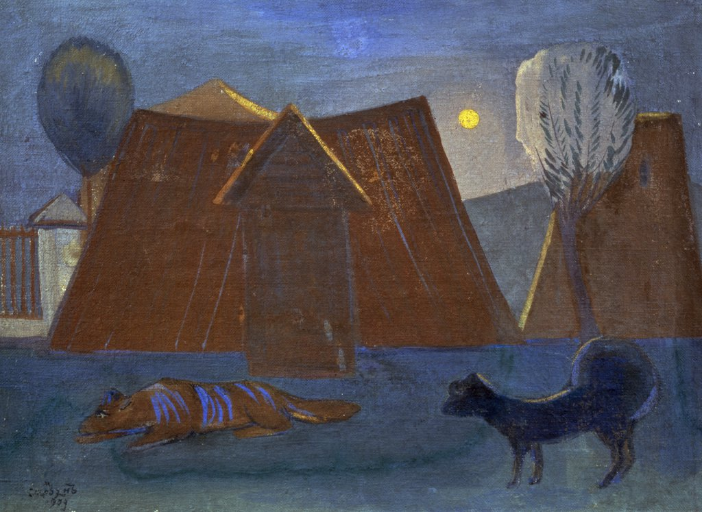 Stock Photo: 261-653 Morning in Stavrin by Martiros Sergeevic Sar'jan,  (1880-1972 ),  Armenia,  Yerevan,  Saryan Museum