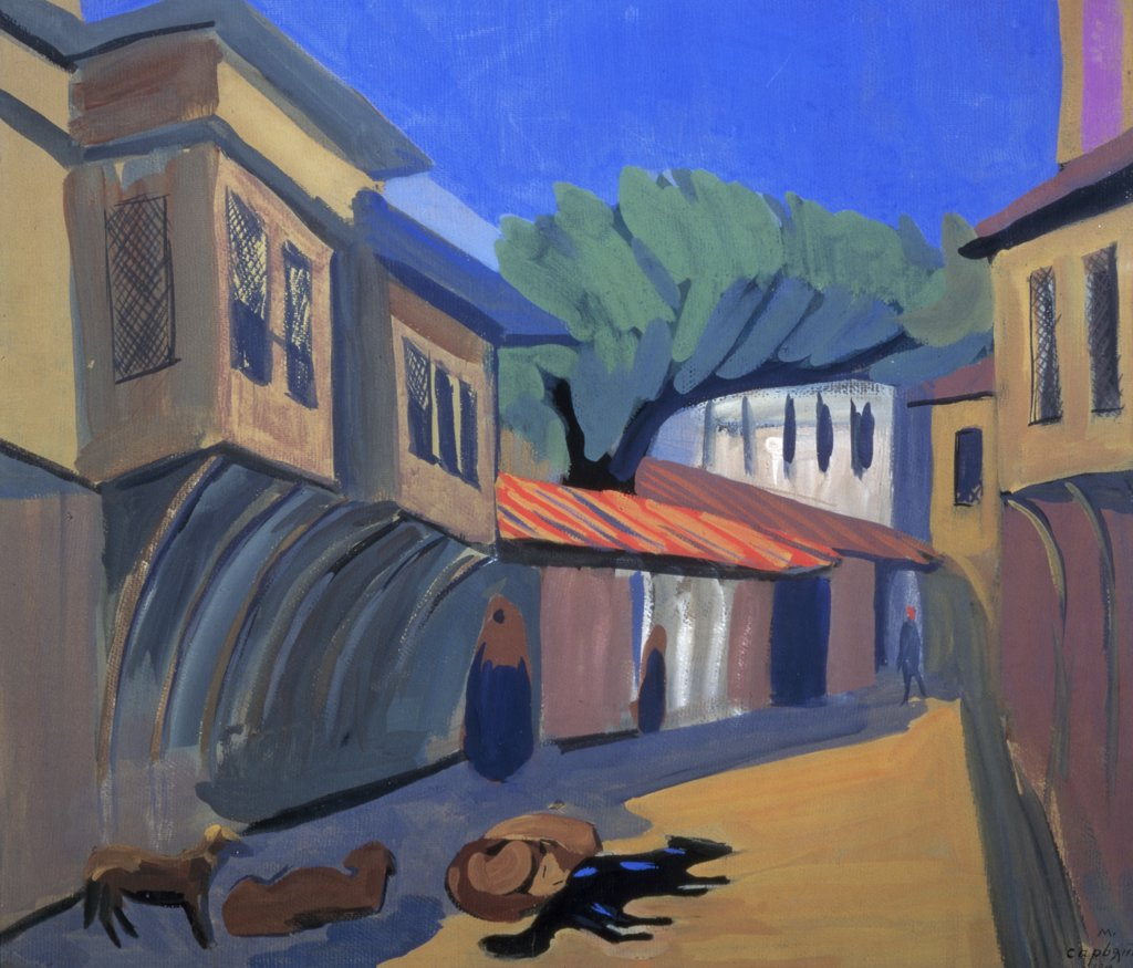 Stock Photo: 261-669 Constantinople. Dogs by Martiros Sergeevic Sar'jan,  (1880-1972 ),  Armenia,  Yerevan,  Saryan Museum