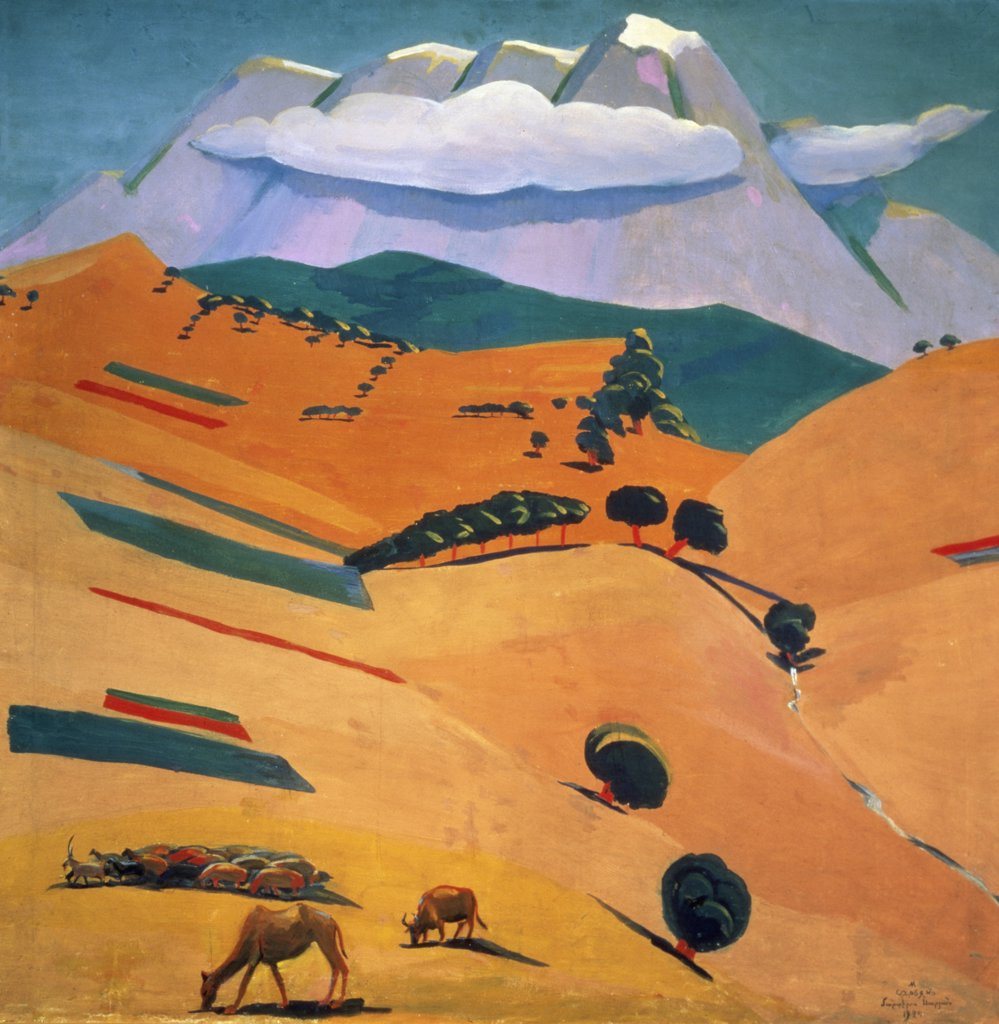 Stock Photo: 261-672 Noon Silence by Martiros Sergeevic Sar'jan,  (1880-1972 ),  Armenia,  Yerevan,  National Gallery of Armenia