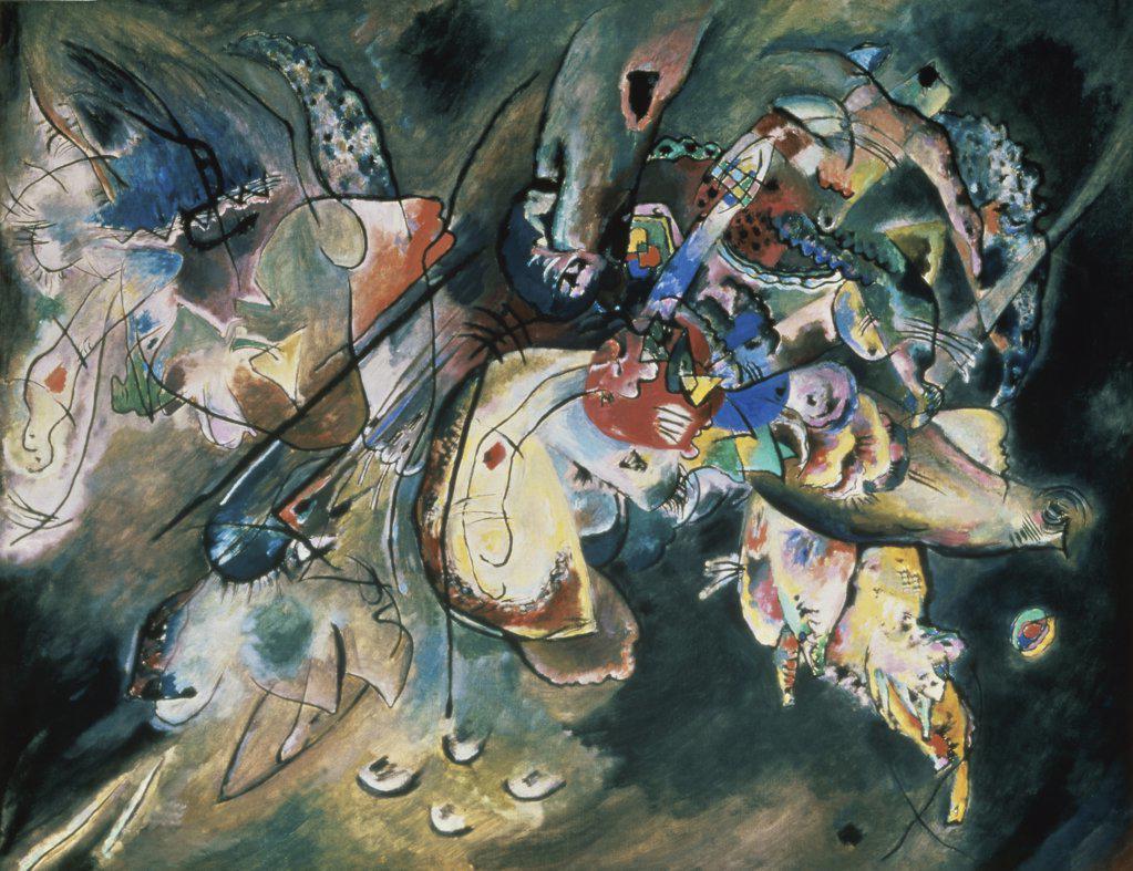 Stock Photo: 261-689 Gloomy by Vasily Kandinsky, 1917, 1866-1944, Russia, Moscow, Tretyakov Gallery