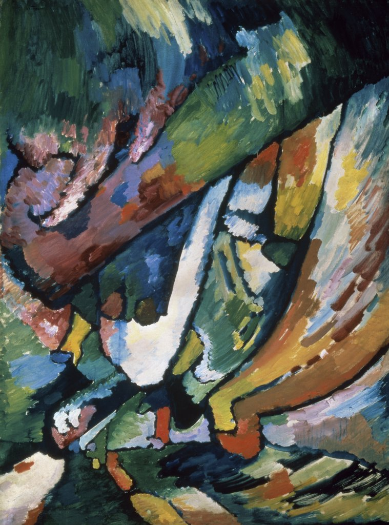 Stock Photo: 261-691 Improvisation #7 by Vasily Kandinsky, 1910, 1866-1944, Russia, Moscow, Tretyakov Gallery
