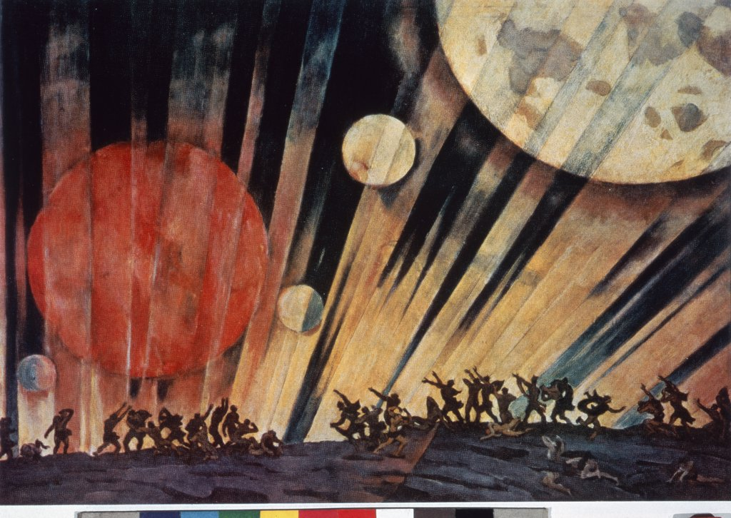 Stock Photo: 261-707 A New Planet by K. F. Yuon, 1921, 1875-1958, Russia, Moscow, Tretyakov Gallery