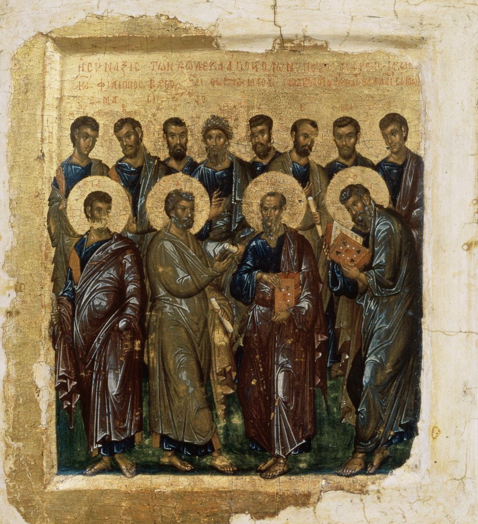 Icon Showing The Twelve Apostles 