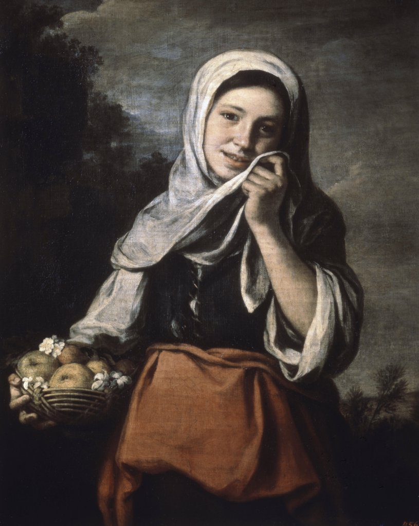 Stock Photo: 261-746 Girl Selling Fruit