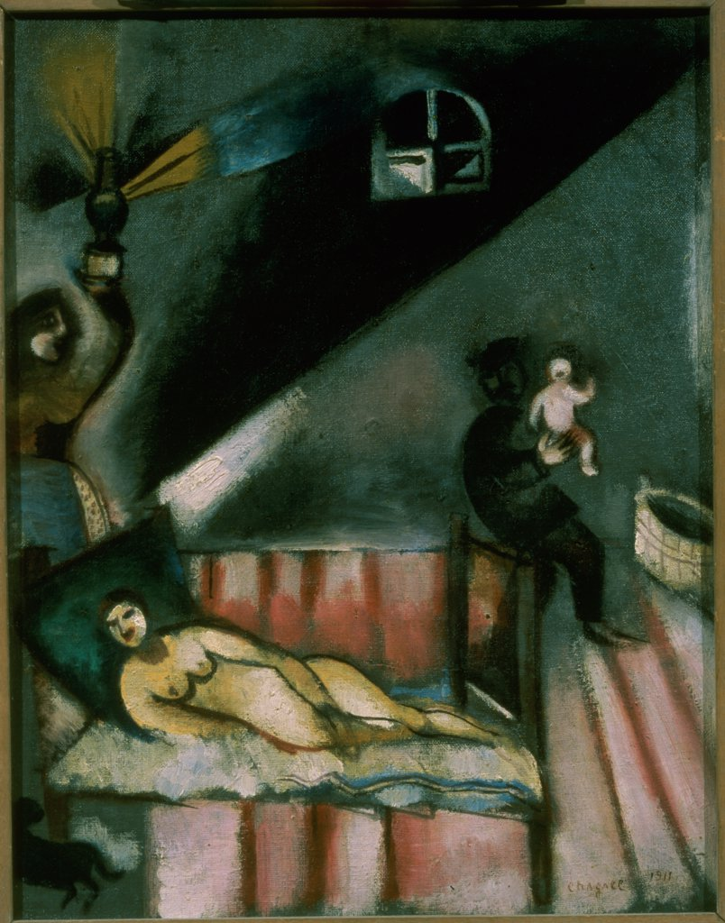 Stock Photo: 261-766 Birth of a Child by Marc Chagall, 1911, 1887-1985, Private Collection