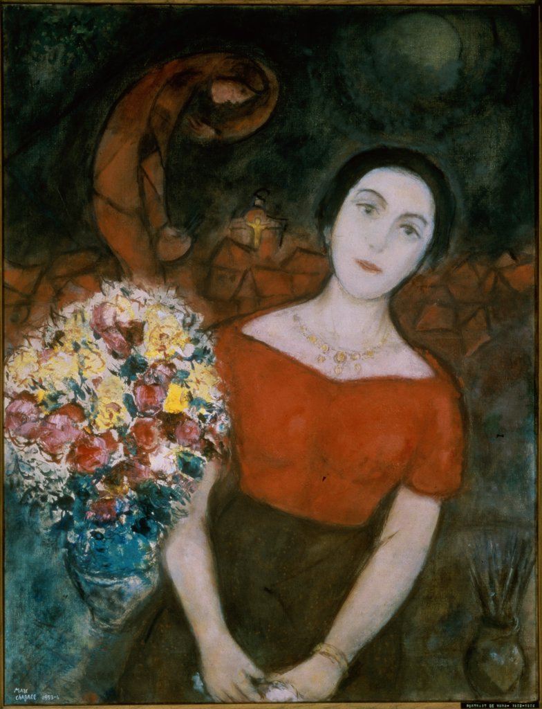 Stock Photo: 261-773 Portrait of Vava by Marc Chagall, circa 1953-56, 1887-1985, Private Collection