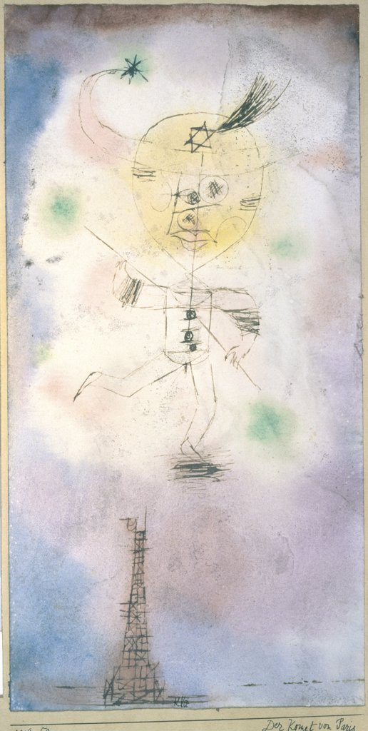 Stock Photo: 261-780 A Comet Above Paris