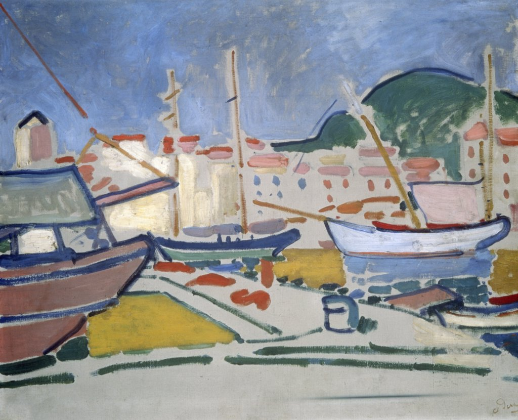 Stock Photo: 261-834 Port by Andre Derain,  oil on canvas,  ca. 1905,  (1880-1954 French),  Russia,  St. Petersburg,  State Hermitage Museum