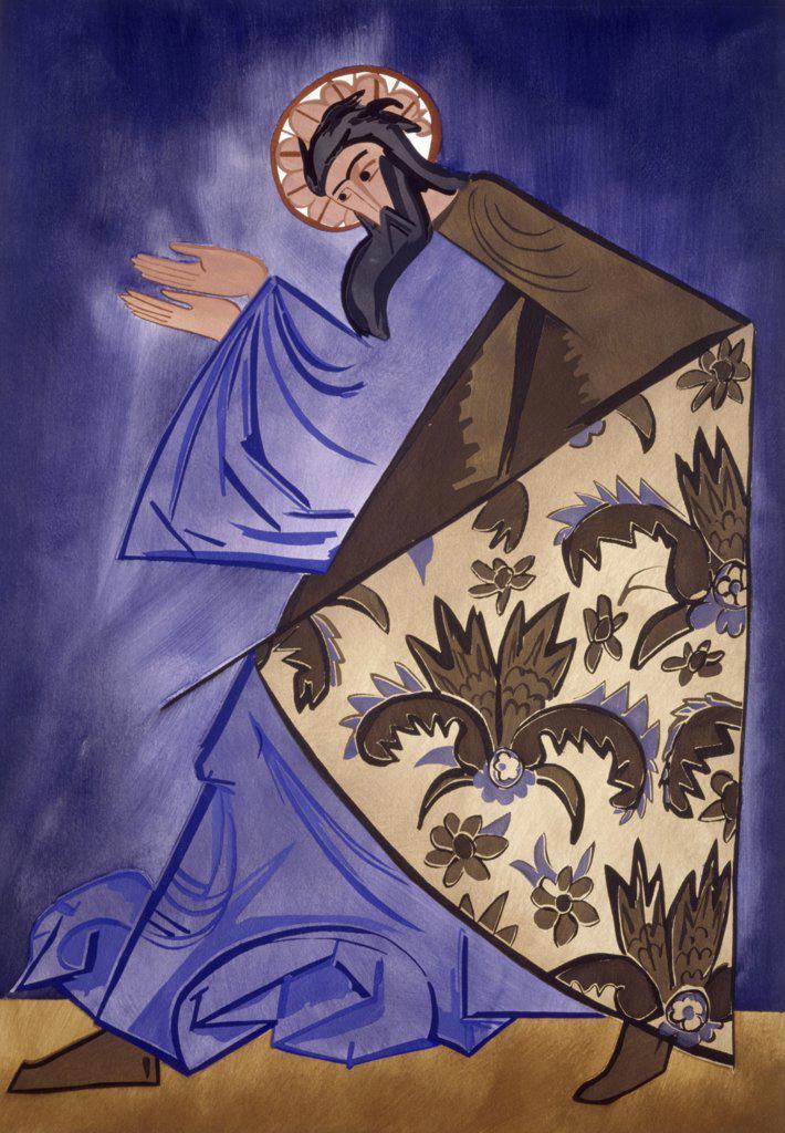 Stock Photo: 261-835 The Apostle by Natalia Sergeevna Goncharova, 1910-1911, 1881-1962, Ukraine, Kiev, Russian Fine Art Museum