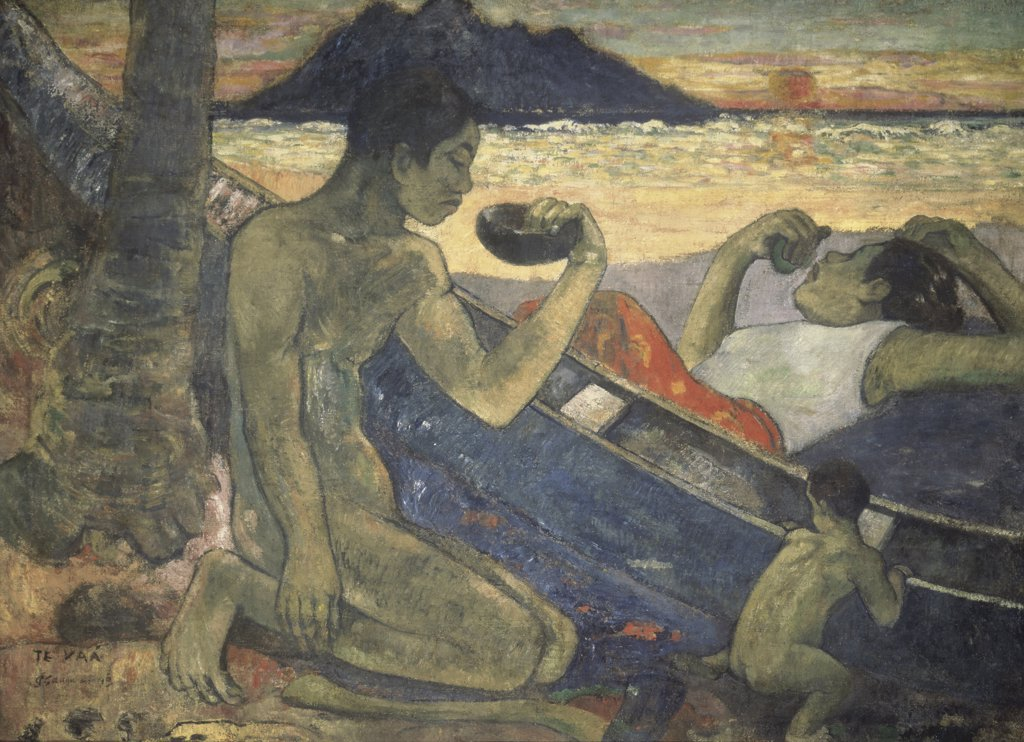 The Canoe, A Tahitian Family