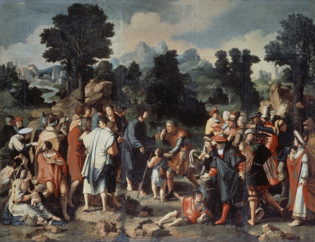 Stock Photo: 261-865 Healing of the Blind Man of Jericho Triptych