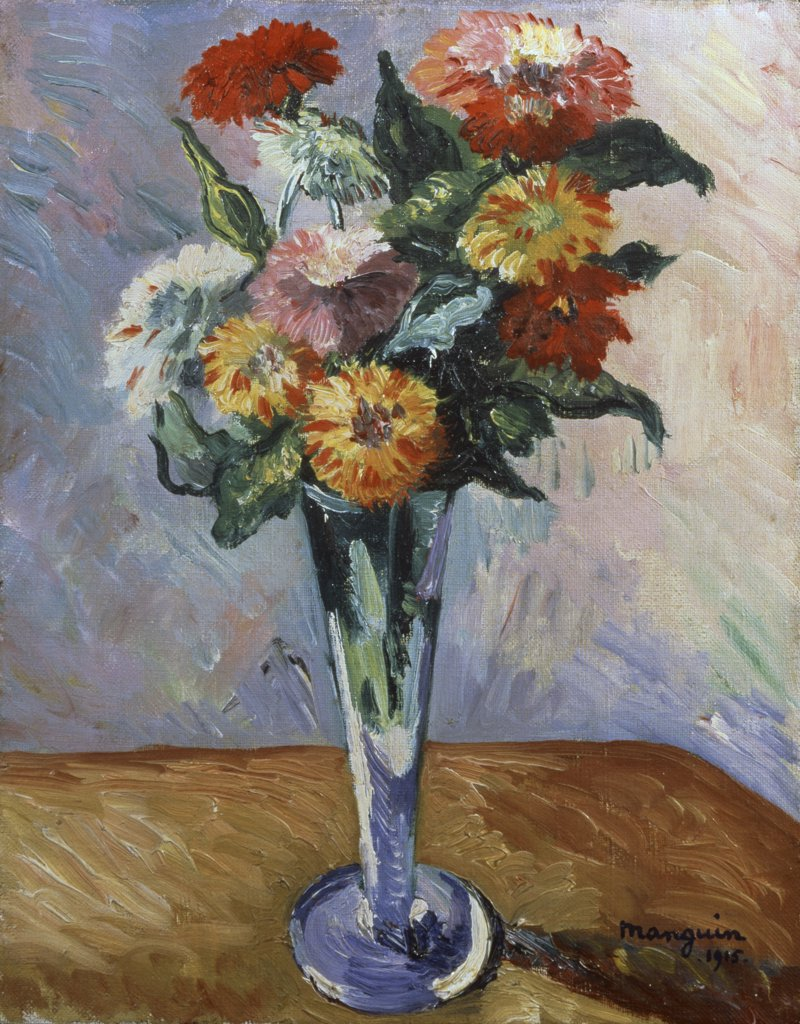 Stock Photo: 261-867 Flowers by Henri Charles Manguin, 1915, 1874-1949, Russia, St. Petersburg, State Hermitage Museum