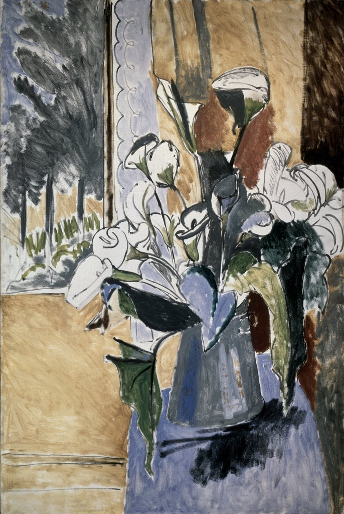 Stock Photo: 261-869 Flowers On The Veranda by Henri Matisse, 1913, 1869-1954, Russia, St. Petersburg, State Hermitage Museum