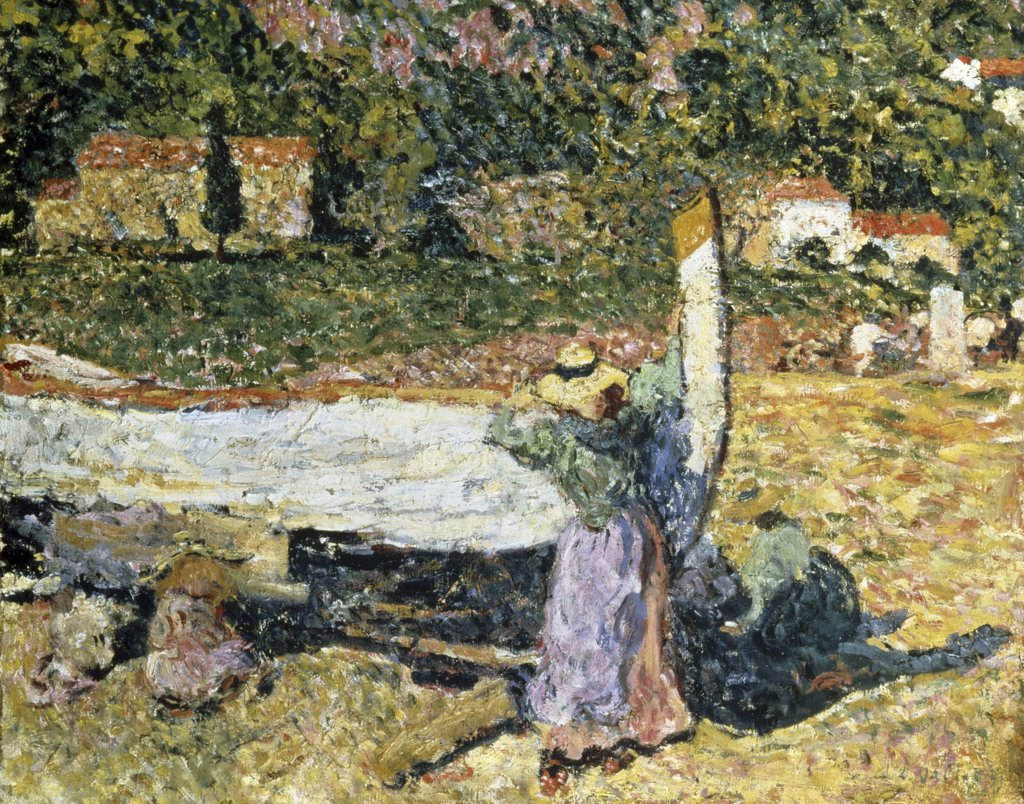 Stock Photo: 261-880 At the Boat by Louis Valtat, 1899, 1869-1952, Russia, St. Petersburg, State Hermitage Museum