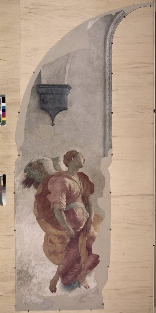 Stock Photo: 262-1565 Annunciation, detail with Angel by Jacopo Pontormo, 1494-1557