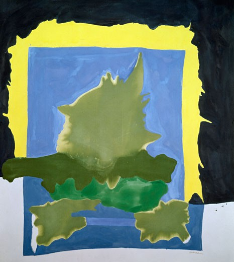 Interior Landscape by Helen Frankenthaler,  (born 1928),  USA,  California,  San Francisco,  San Francisco Museum of Modern Art : Stock Photo