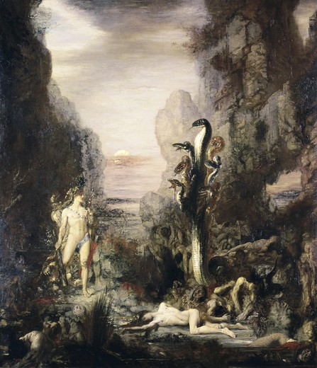 Stock Photo: 262-1654 Hercules and the Hydra