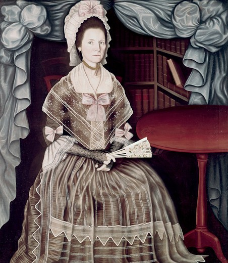 Mrs. Samuel Chandler by Winthrop Chandler, 1747-1790 : Stock Photo