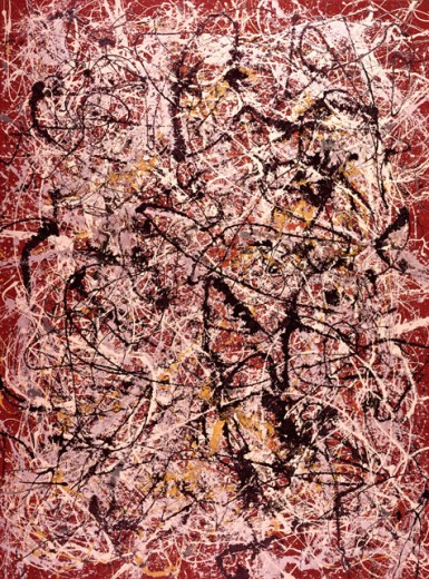 Stock Photo: 262-1686 Mural by Jackson Pollock, 1912-1956